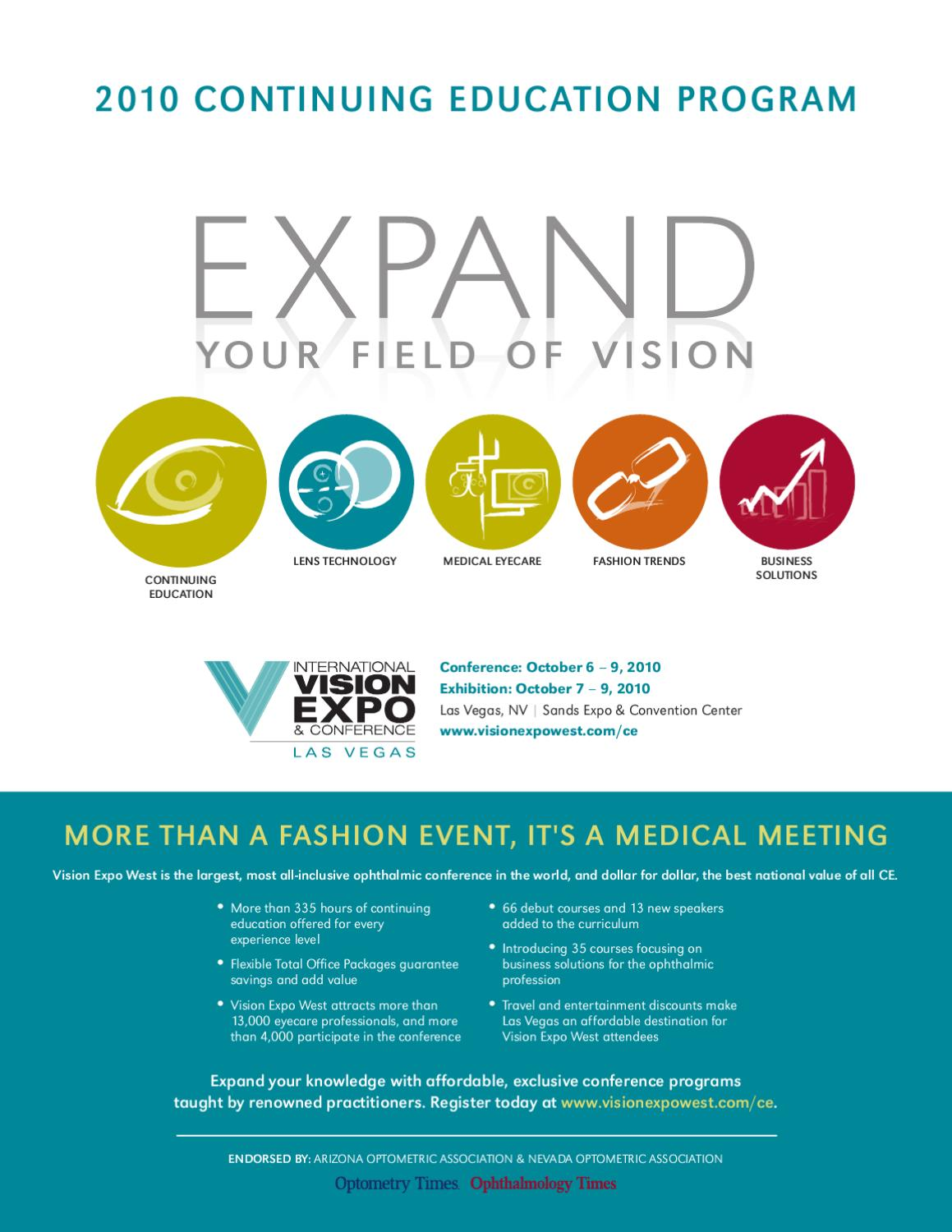 2010 VIsion West Conference Brochure By International Vision Expo
