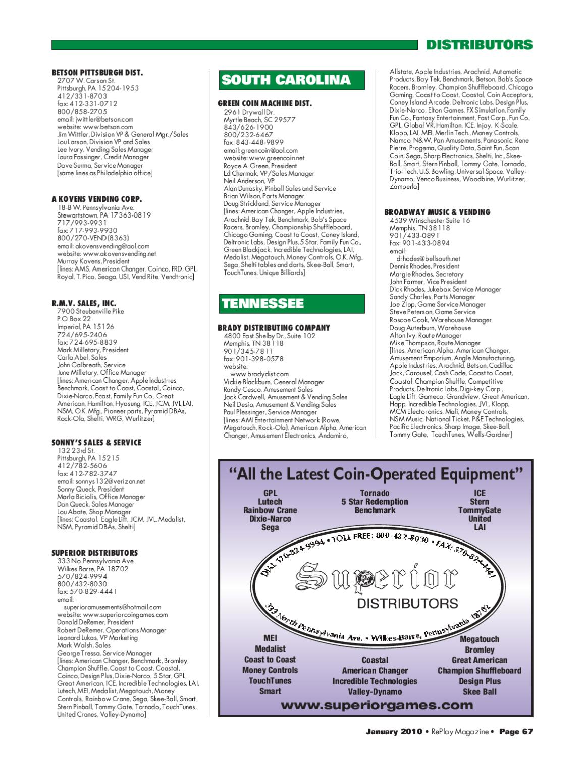 RePlay Magazine's 2010 Directory Issue by RePlay Magazine