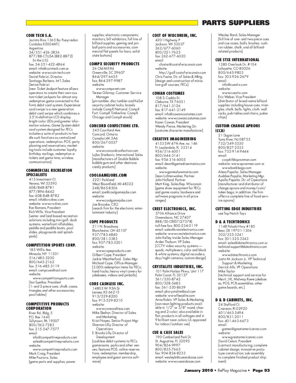 366f1b3b9 RePlay Magazine s 2010 Directory Issue by RePlay Magazine - issuu