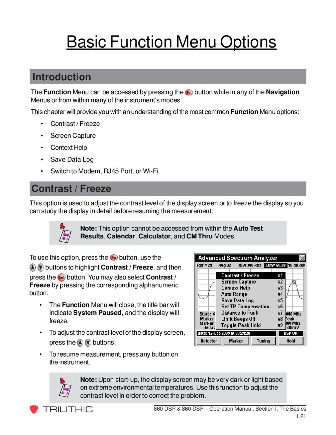 860 DSPi Manual: Section 1, Chapter 6 by Trilithic, Inc - issuu
