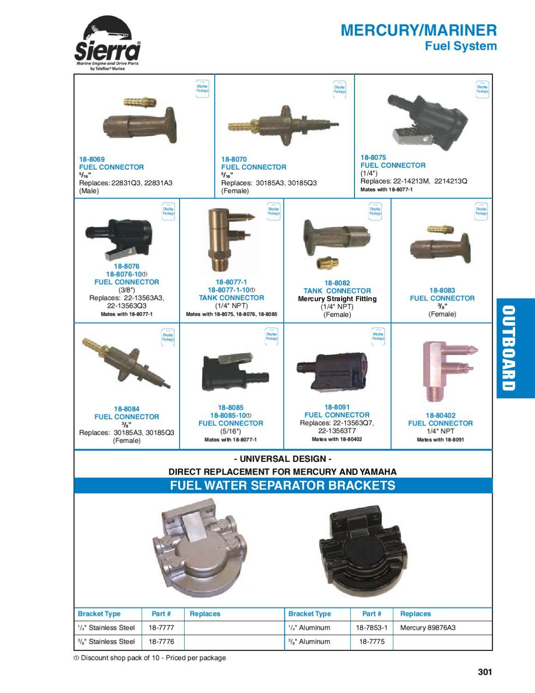 new Marine Fuel Water Separator Bracket Replaces Mercury 89876A3 18-7853-1