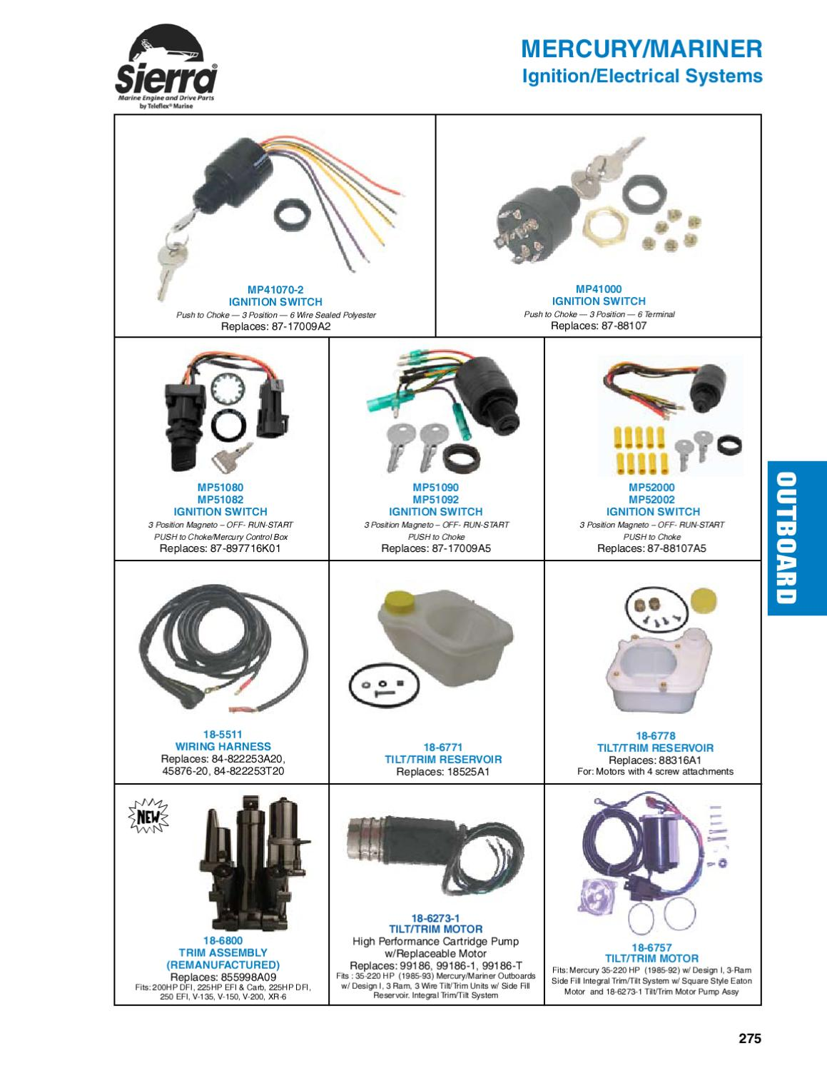 Sierra Marine Engine and Drive Products for Mercury/Mariner