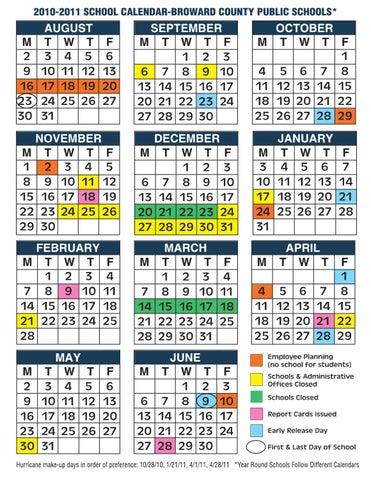 Broward School Calendar World Of Printable And Chart