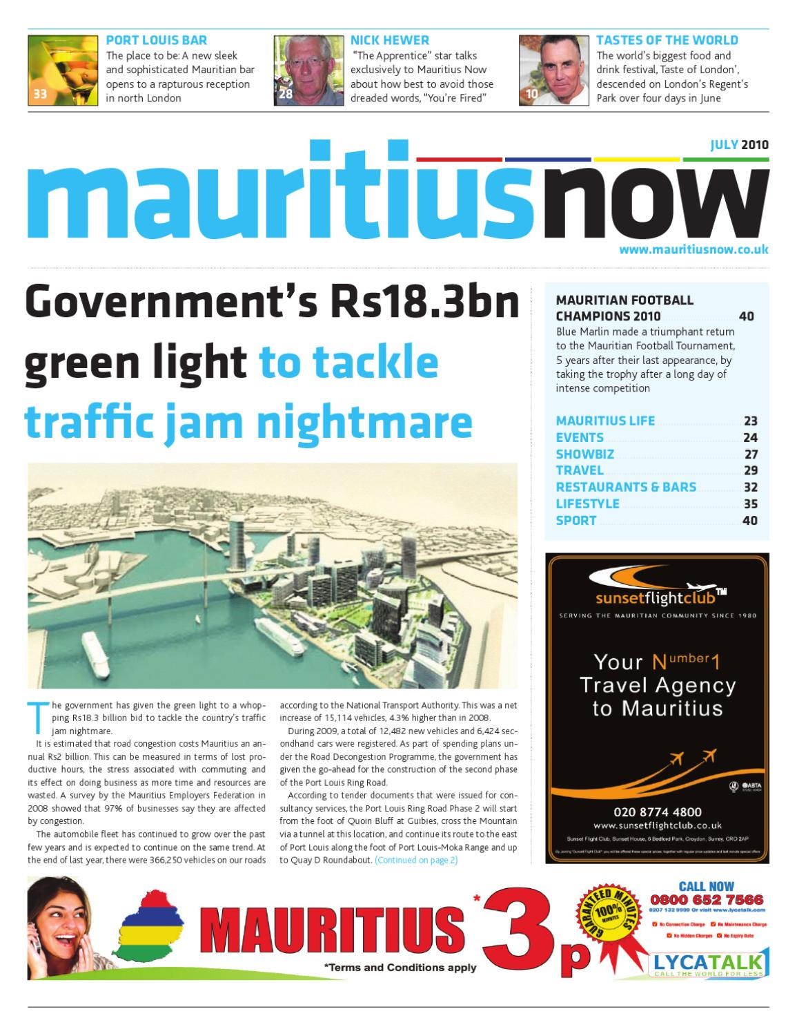Mauritius Now - July 2010 by Mauritius Now - issuu