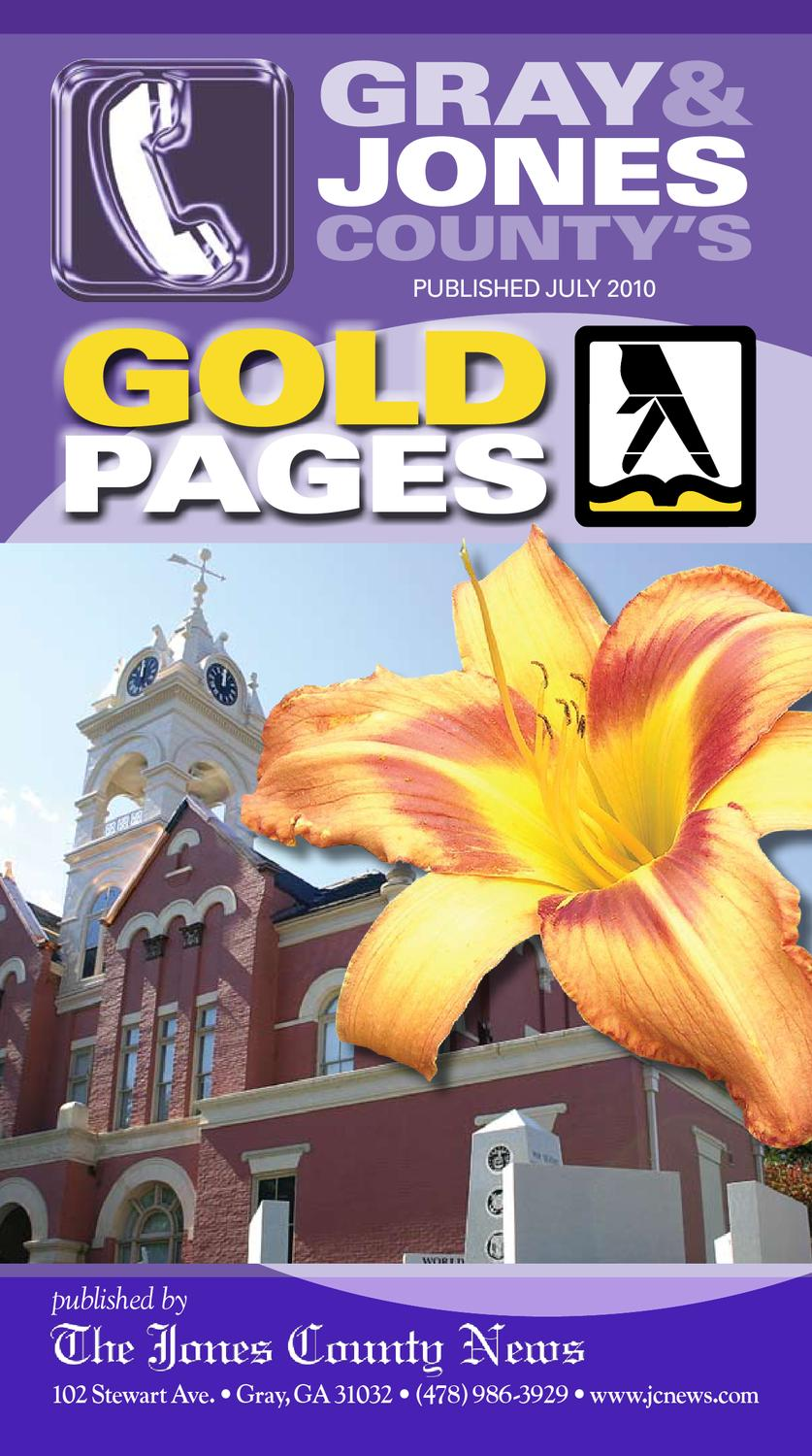 The Jones County Gold Pages By Josh Lurie