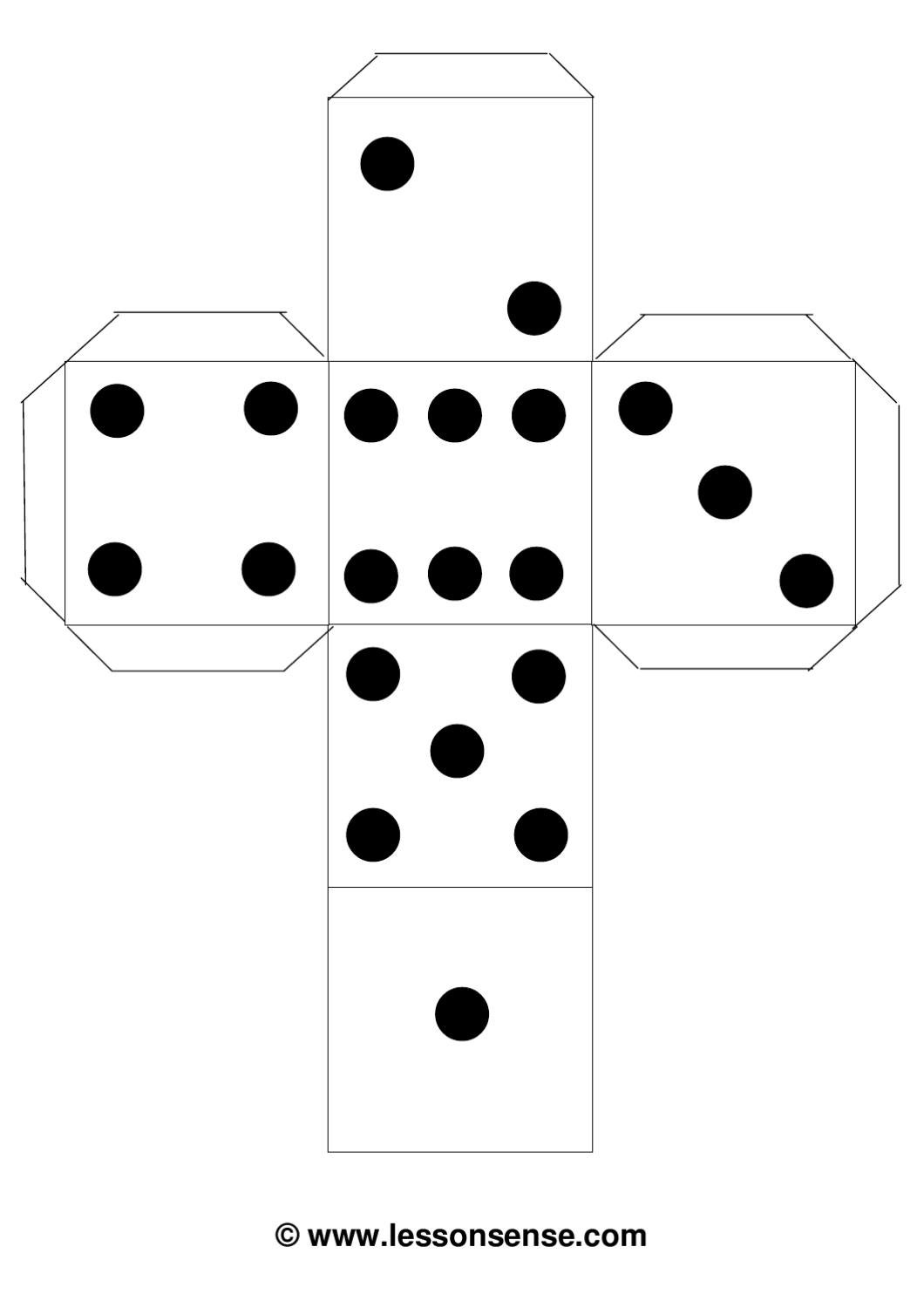 dice dots template by erin moore