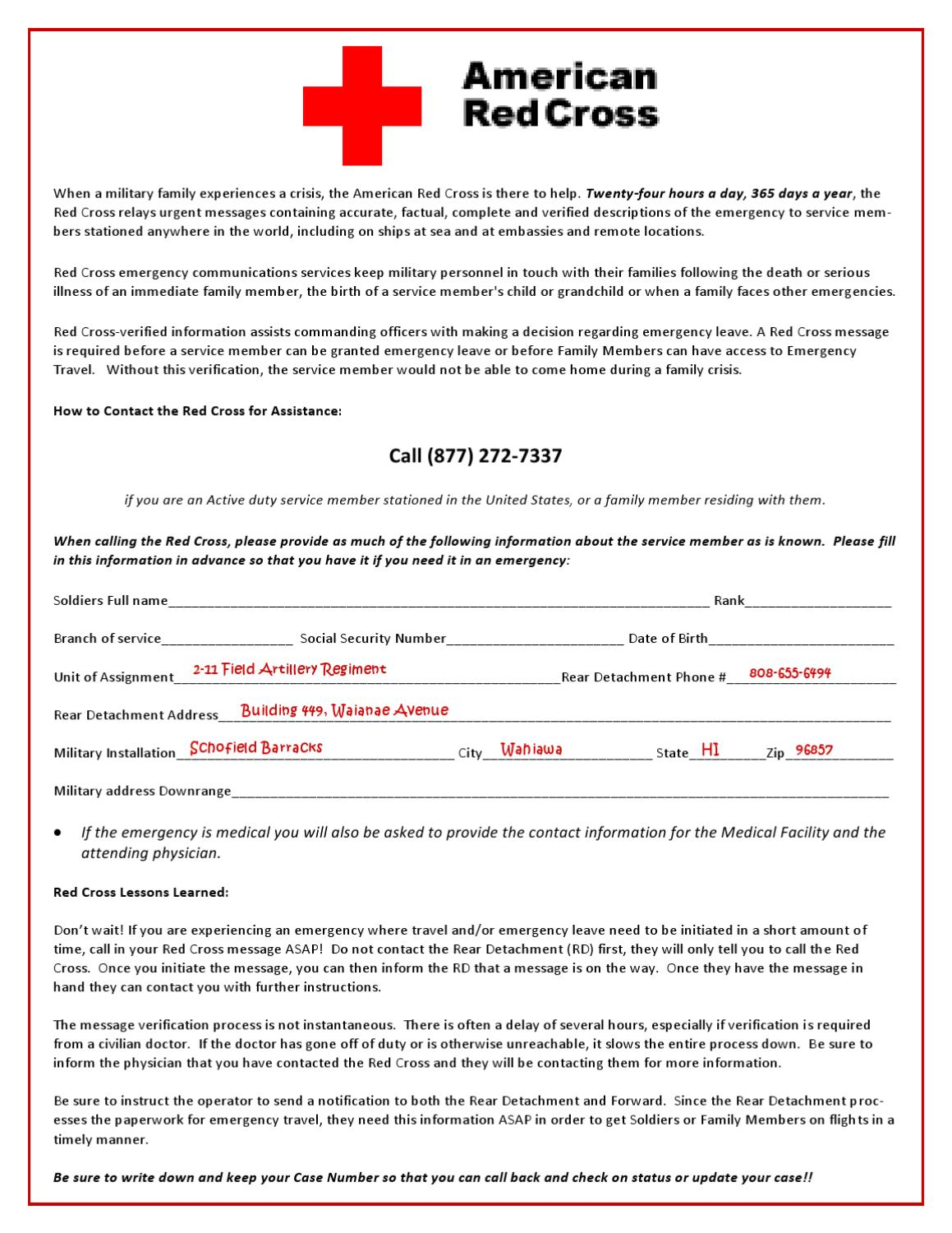 Red Cross Message Assistance Sheet by Emily Harrison - issuu