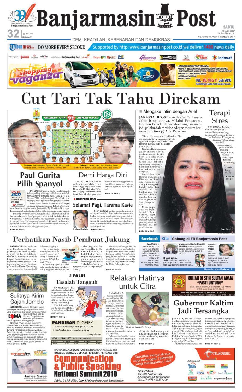 Banjarmasin Post Edisi Sabtu 10 Juli 2010 By Issuu Gendongan Bayi Depan Mbg 6201 Free Ongkir Jabodetabek