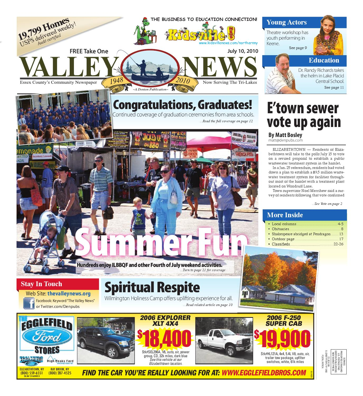 Valley News 07 10 2010 by Sun munity News and Printing issuu
