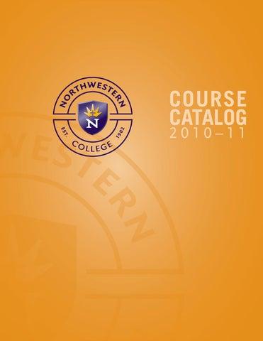 2010 11 Catalog By University Of Northwestern Issuu