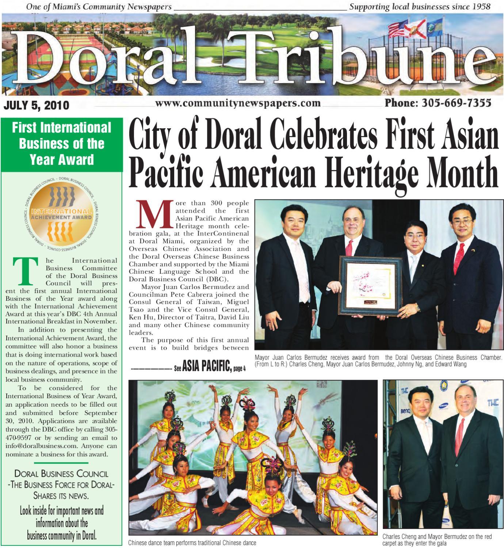 Doral Tribune July 5 2010 Online edition