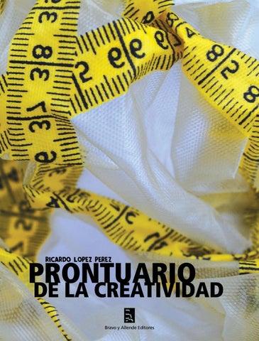 PRONTUARIO DE LA CREATIVIDAD  71a9ad6c9b5