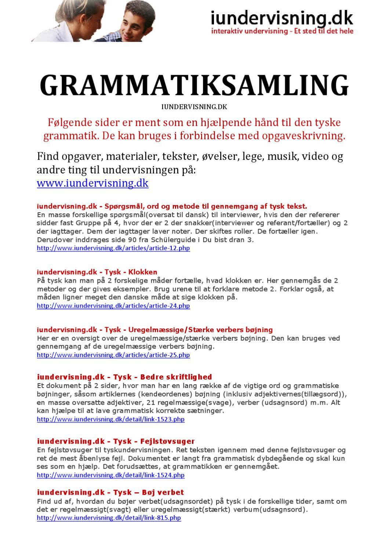 tysk opgaver 8 klasse