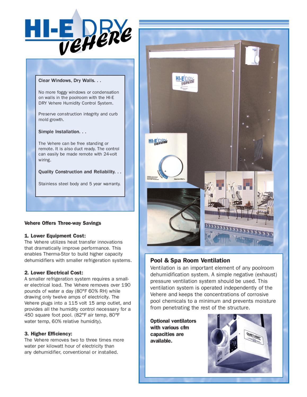 MANUAL DE INSTALACION DESHUMIDIFICADOR HI-E-DRY VEHERE by H2O TEK