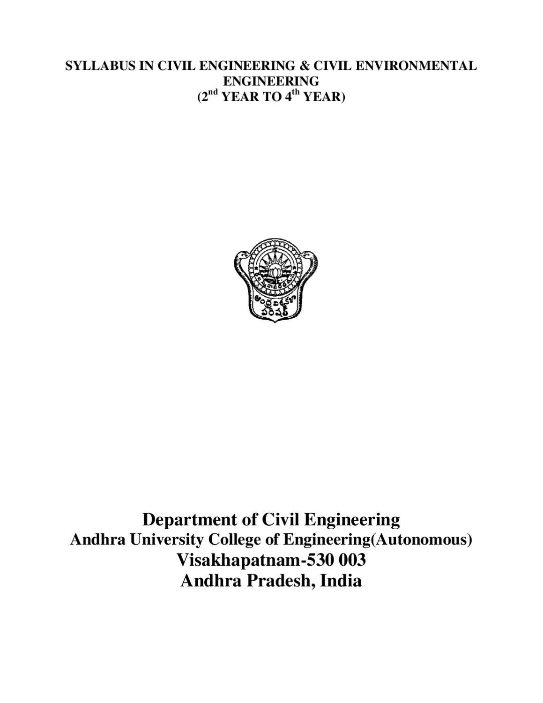 CIVIL ENGINEERING SYLLABUS by ramesh kumar - issuu