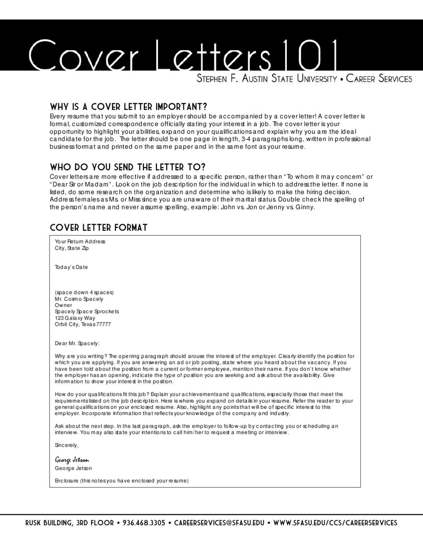sfasu cover letter