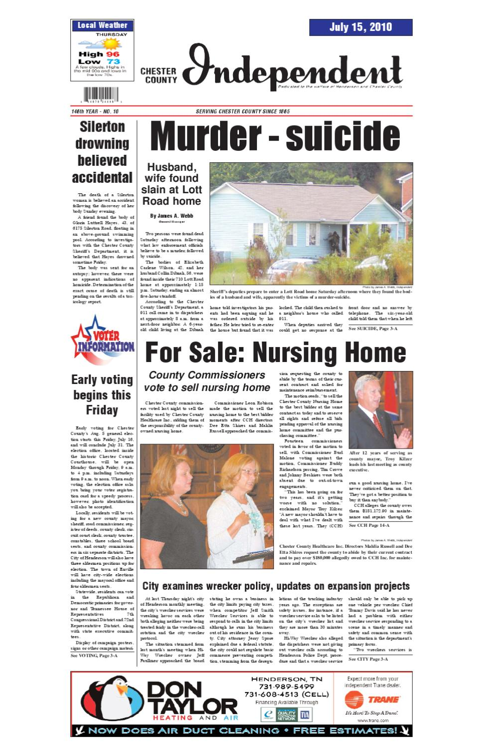 Tennessee chester county enville - Chester County Independent 07 15 10 By Chester County Independent Issuu