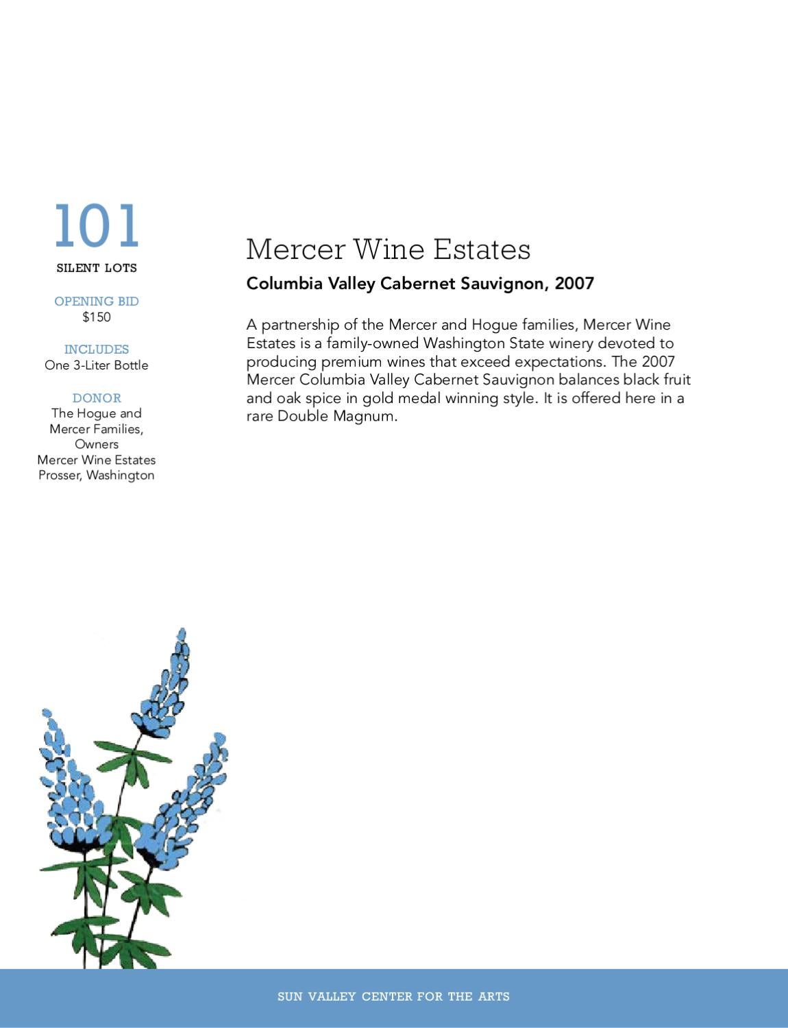 2010 Sun Valley Center Wine Auction Catalog by Sun Valley Center for