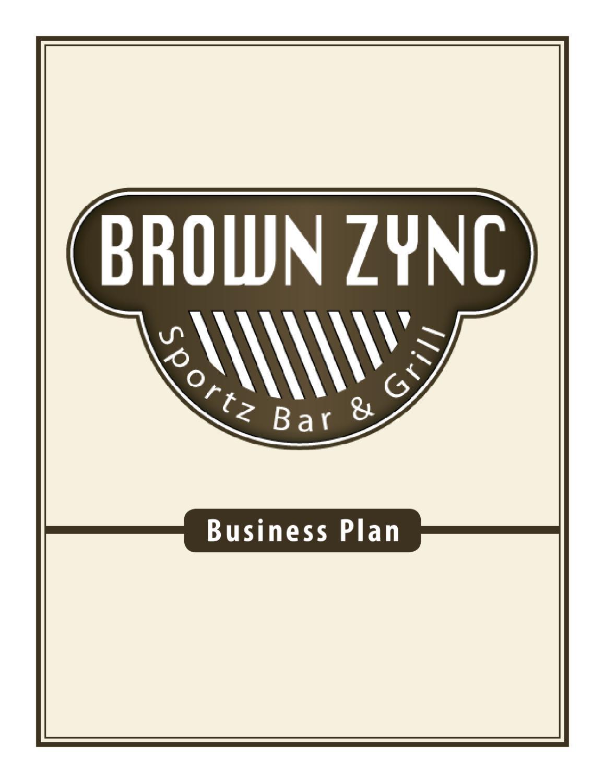 sample restaurant business proposal