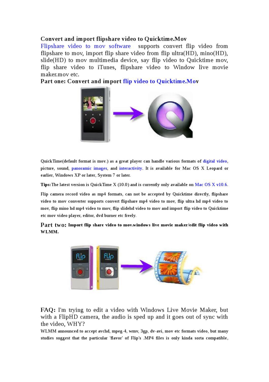 flip video windows 10