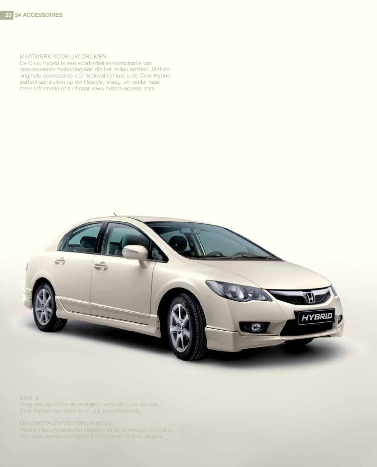 2010 Honda Civic Hybride Brochure By Ted Sluymer Issuu