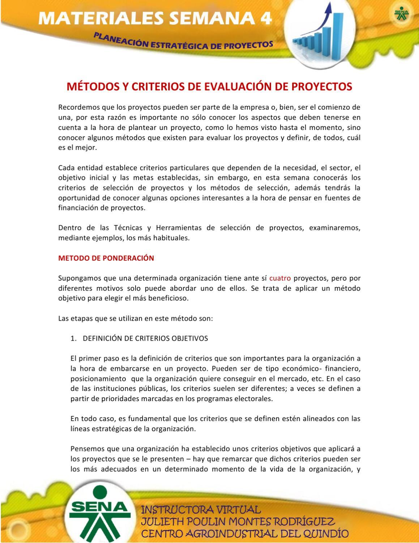Material Semana 4. Criterios de selección y Fuentes de ...
