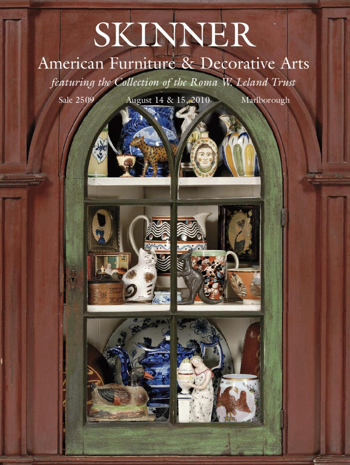 American Furniture Decorative Arts Skinner Auction