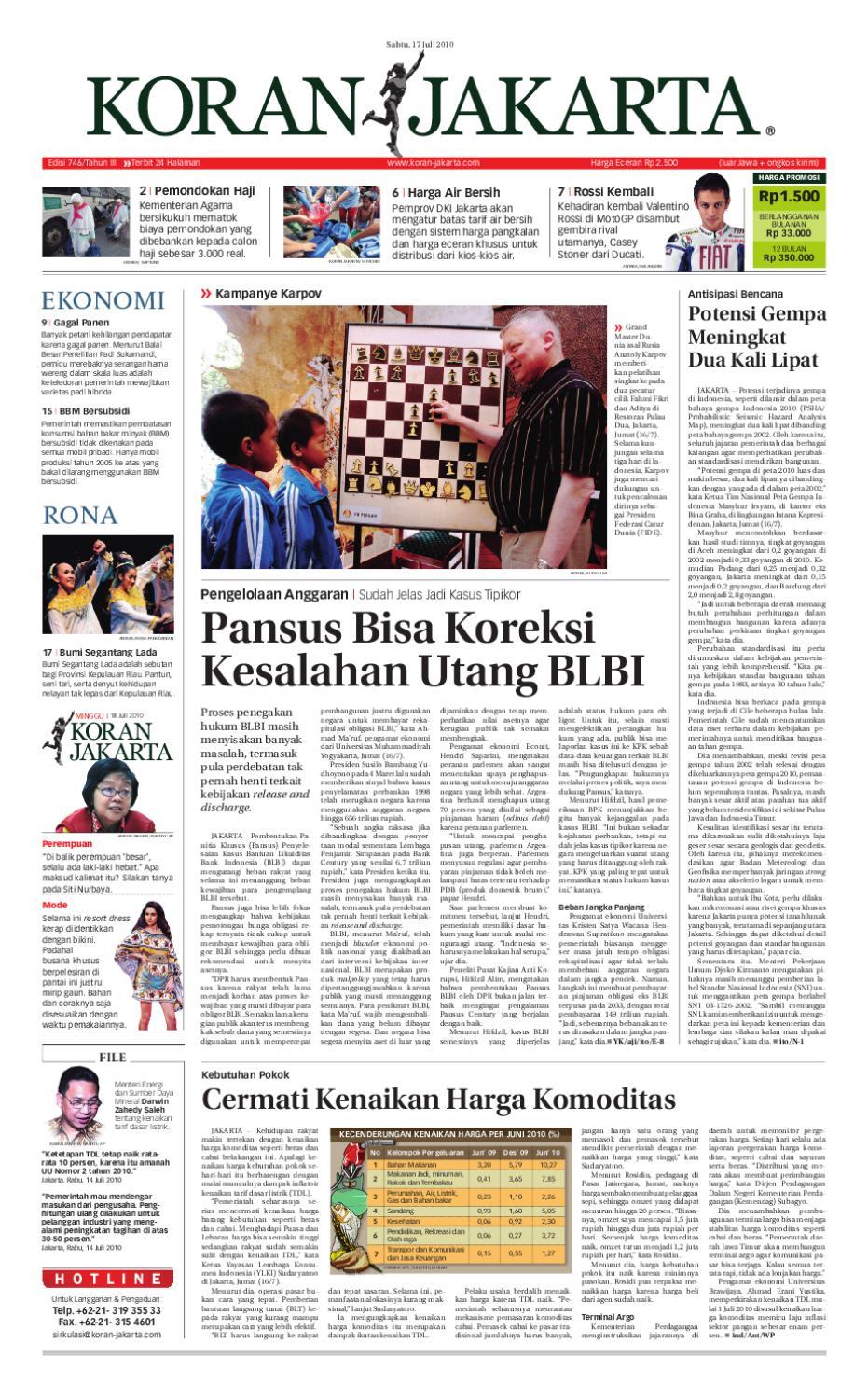 Edisi 746 17 Juli 2010 By Pt Berita Nusantara Issuu Rejeki Anak Soleh 3 Voucher Carrefour Rp 200000