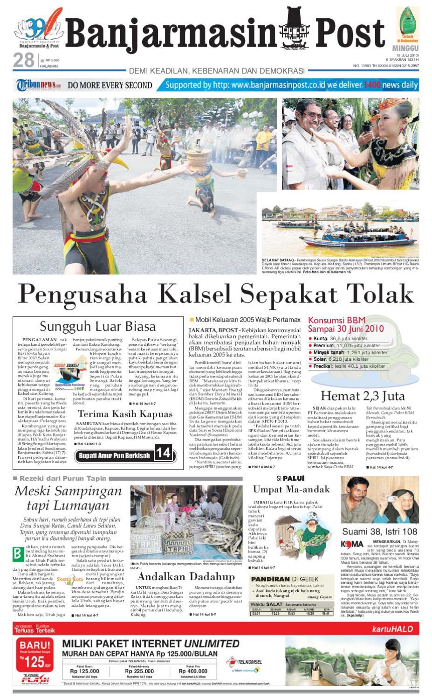 Banjarmasin Post Edisi Minggu 18 Juli 2010 By Tcash Vaganza 39 Bantal Mobil 3 In 1 Juventus Aksesoris Issuu