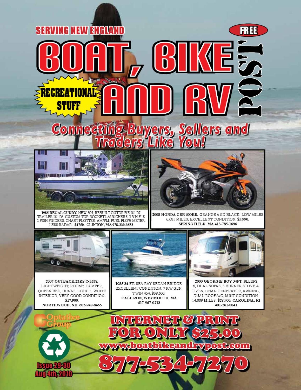 Boat Bike And Rv Post Issue 29 30 2010 By 1clickaway Issuu Georgie Boy Fuel Filter Location
