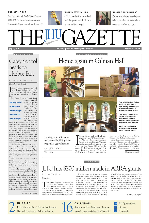The Gazette by The Johns Hopkins University - issuu