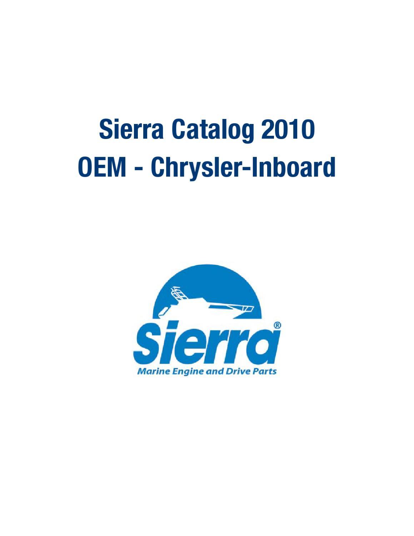 Sierra 18-3581 Bi-Directional Circulating Water Pumpfor Chrysler Inboard Sierra International