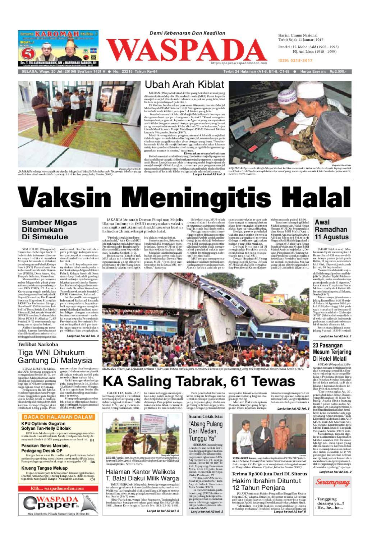 Waspada Selasa 20 Juli 2010 By Harian Issuu Produk Ukm Bumn Mumtaz Cane 93 Original