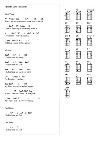 I Fall In Love Too Easily Uke Tab By David Smith Issuu