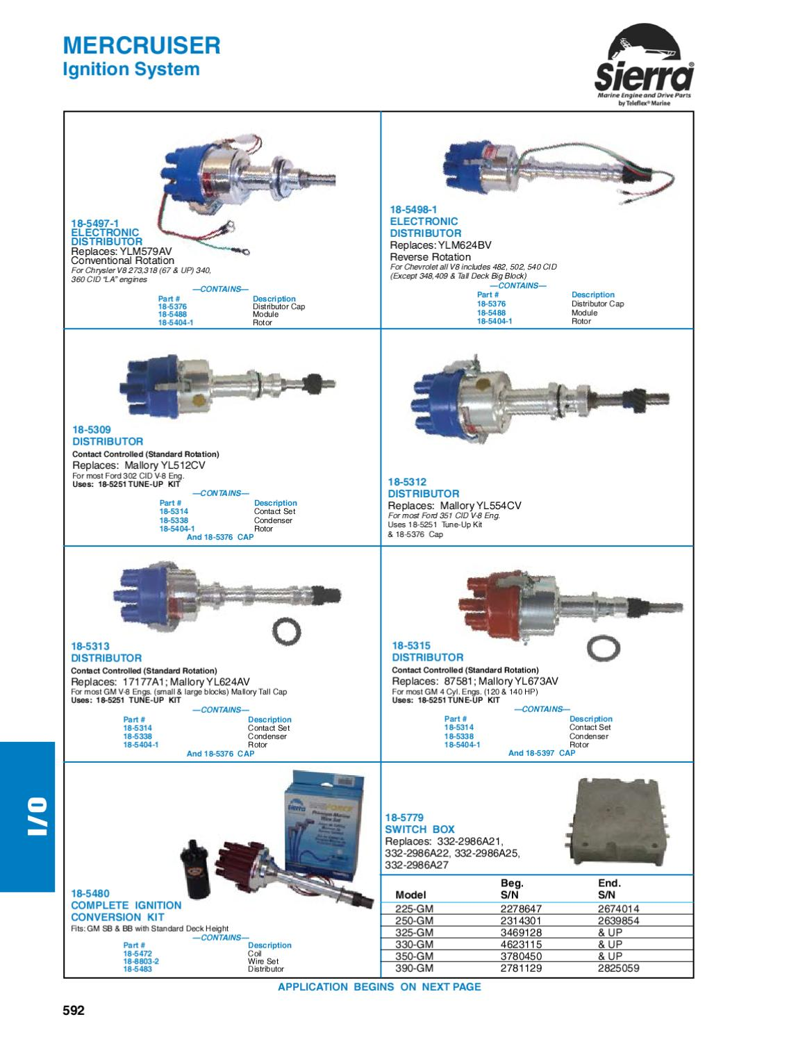 Sierra Marine Engine And Drive Parts For Mercruiser I O Applications Mallory Wiring Diagram Ignition Kits Chevy By Anthea Webb Issuu