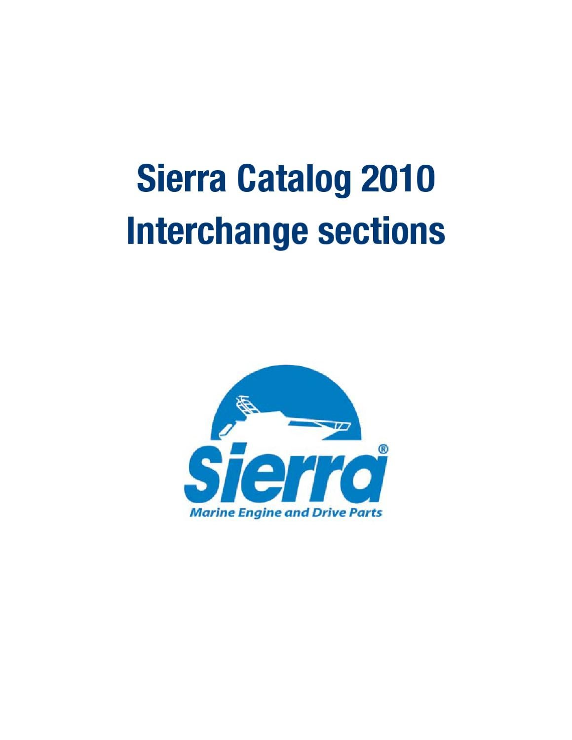 Sierra Marine Engine and Drive Part Interchange and Cross Reference Guide  by Anthea Webb - issuu