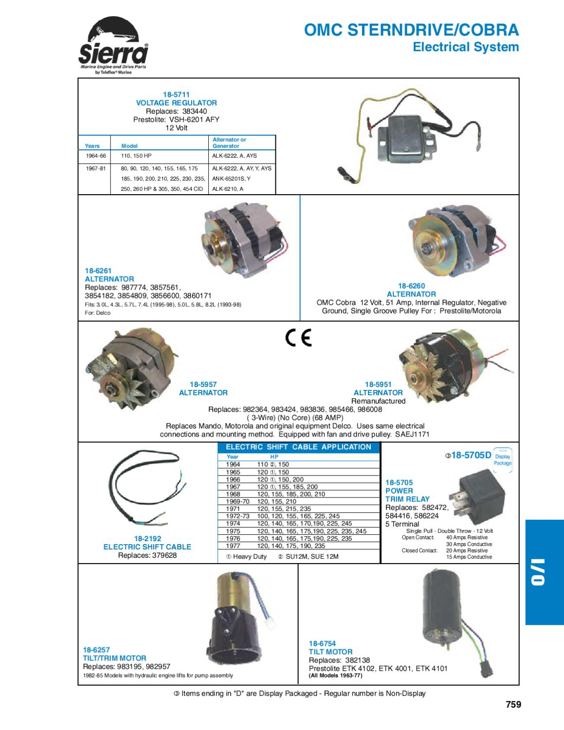 Sierra Marine Engine And Drive Parts For Omc Sterndrive Cobra By Basic 12v Wiring Diagrams 110 Further Prestolite Alternator Anthea Webb Issuu