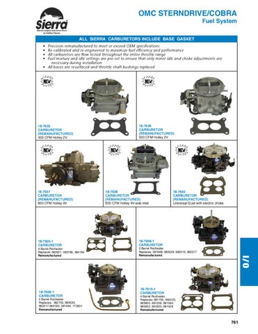 Sierra Marine Engine and Drive Parts for OMC Sterndrive/Cobra