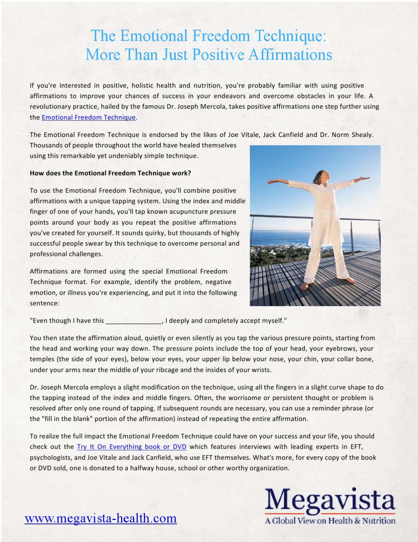 Eft more than just positive affirmations by megavista health issuu altavistaventures Gallery