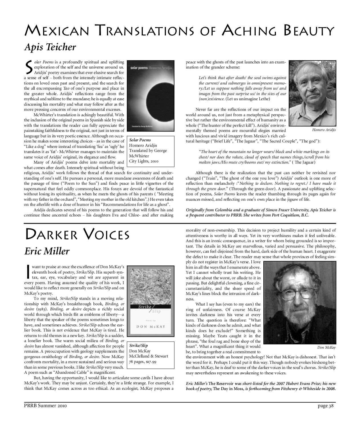 The Darker Voices Of Humanity >> The Pacific Rim Review Of Books By Richard Olafson Issuu