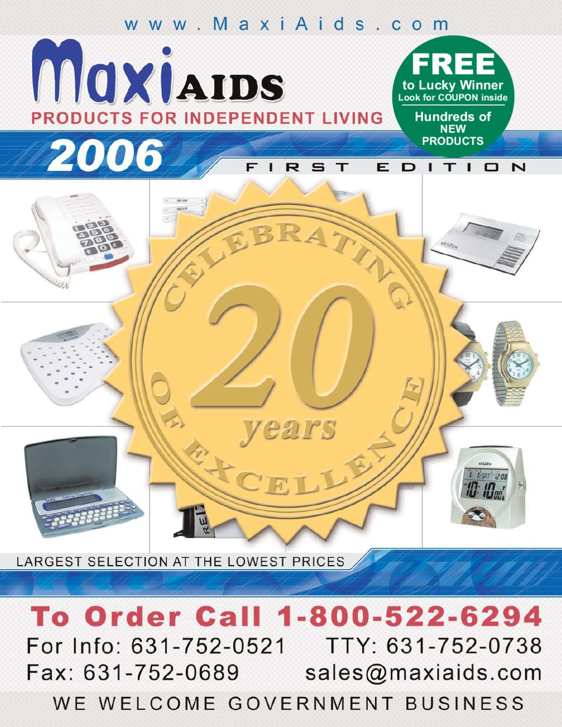 Maxiaids 2006 1st Edition Catalog By Maxiaidscom Issuu Mdisk Kabel Data Ampamp Charger Usb Micro Steel Mesh G322