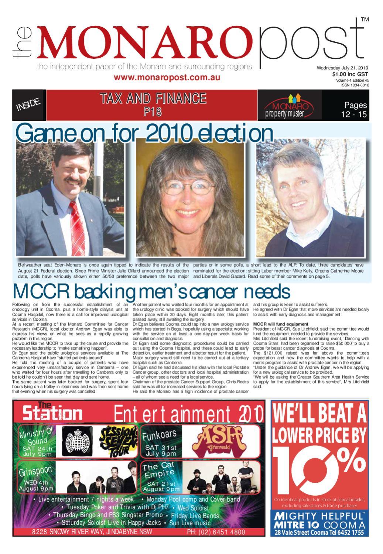 Monaro Post July 21, 2010 by Monaro Post - issuu
