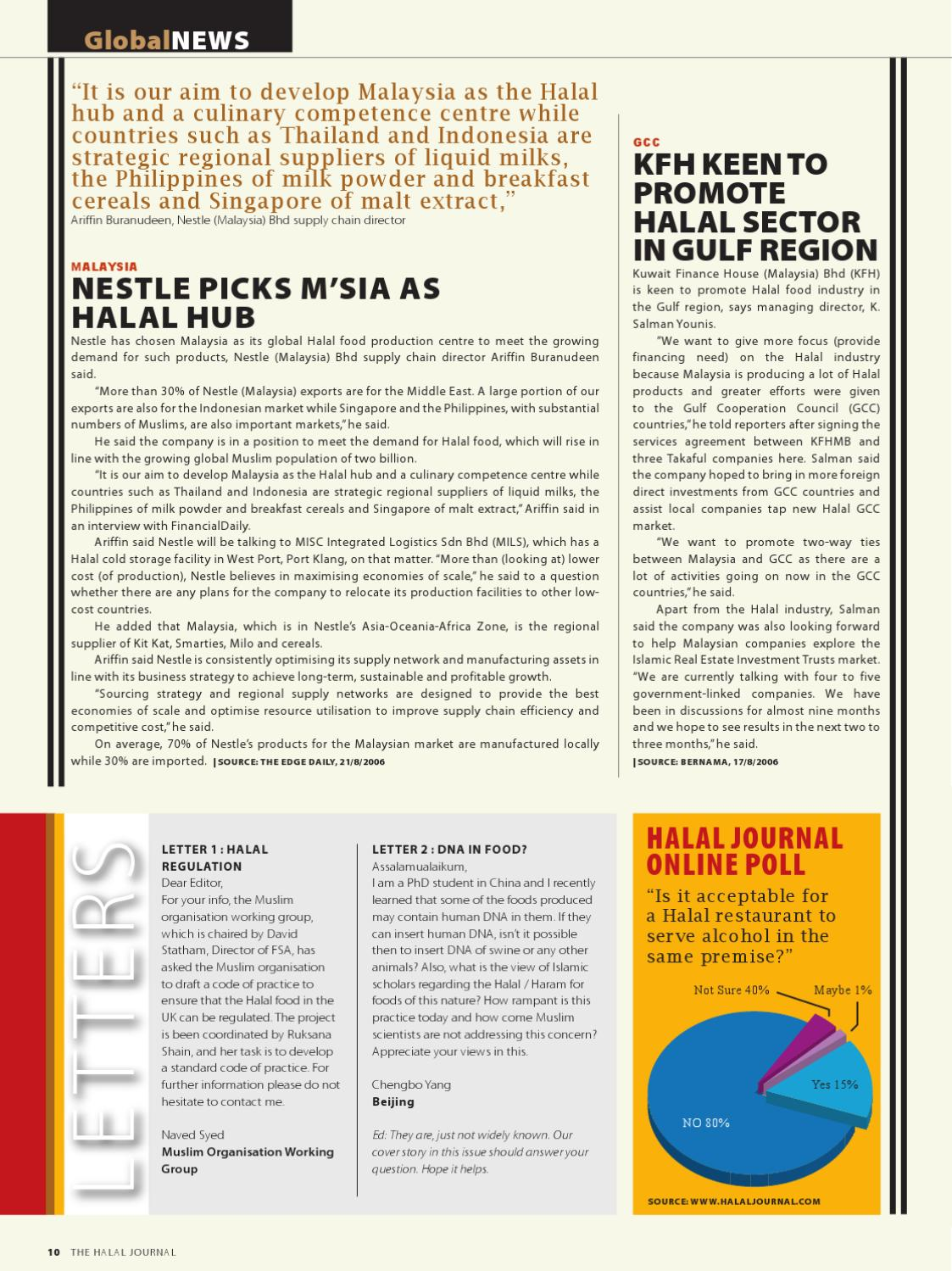 The Halal Journal - Sep/Oct 2006 by The Halal Journal - issuu