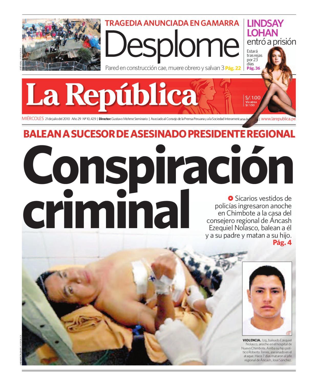 Edici N Lima La Rep Blica 21072010 By Grupo La Rep Blica  # Muebles Ludena Chimbote