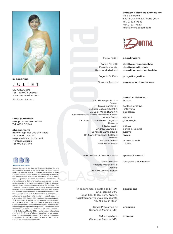 Classe Donna N 003 Novembre 2001 By Eugenio Cuffaro Issuu