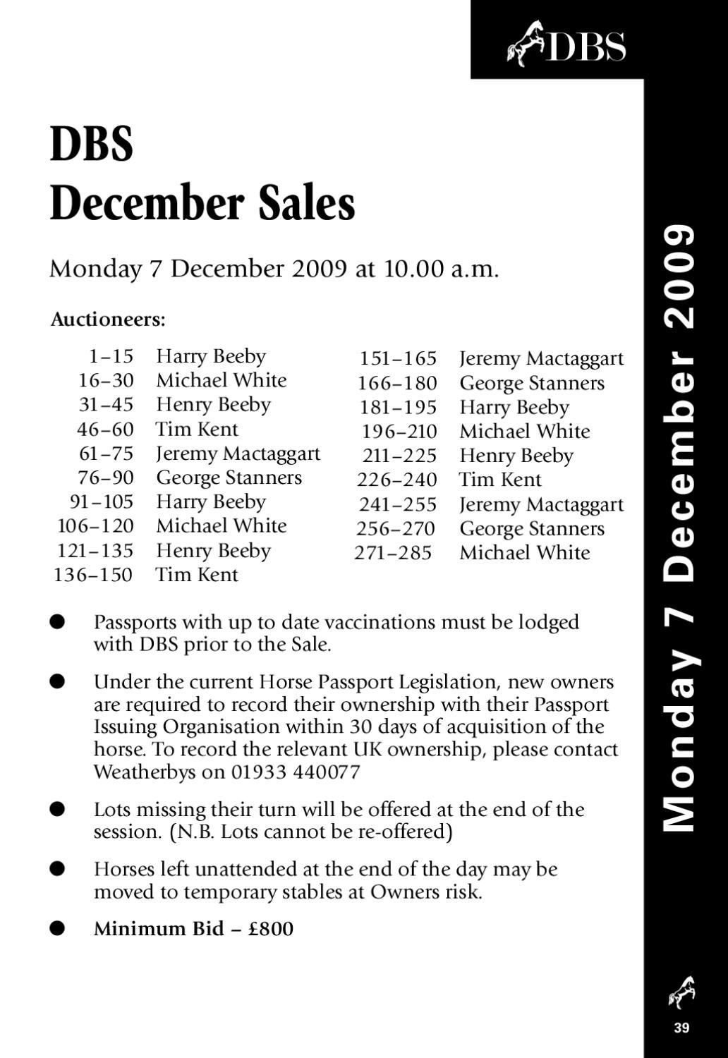 DBS_2009_december_sales by Goffs issuu