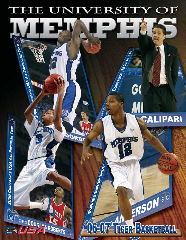 4ba816fec42 2006-07 Memphis Men's Basketball Media Guide by University of Memphis  Athletic Media Relations - issuu