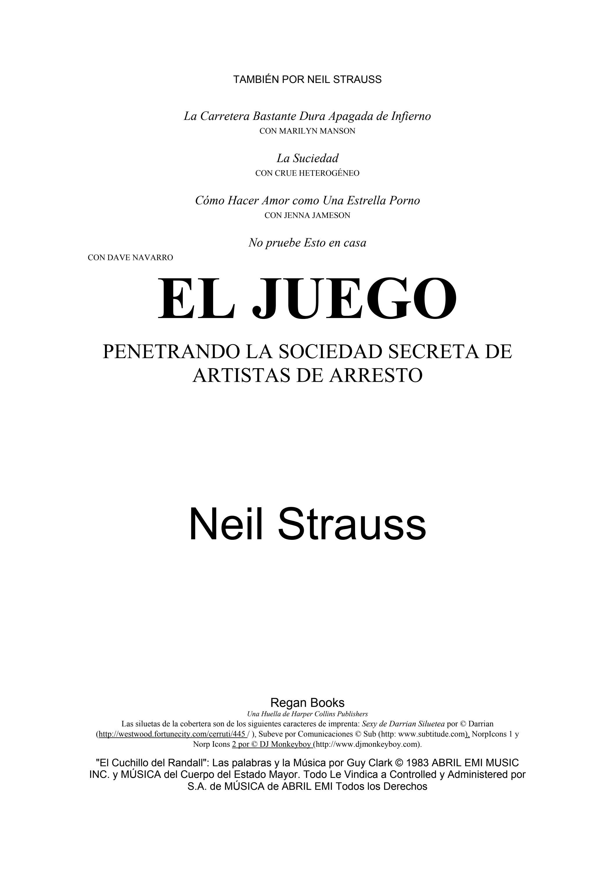 Strauss Neil El Juego Seduccion By Loquito T Issuu