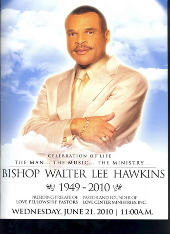 bishop walter l hawkins funeral program by david brass