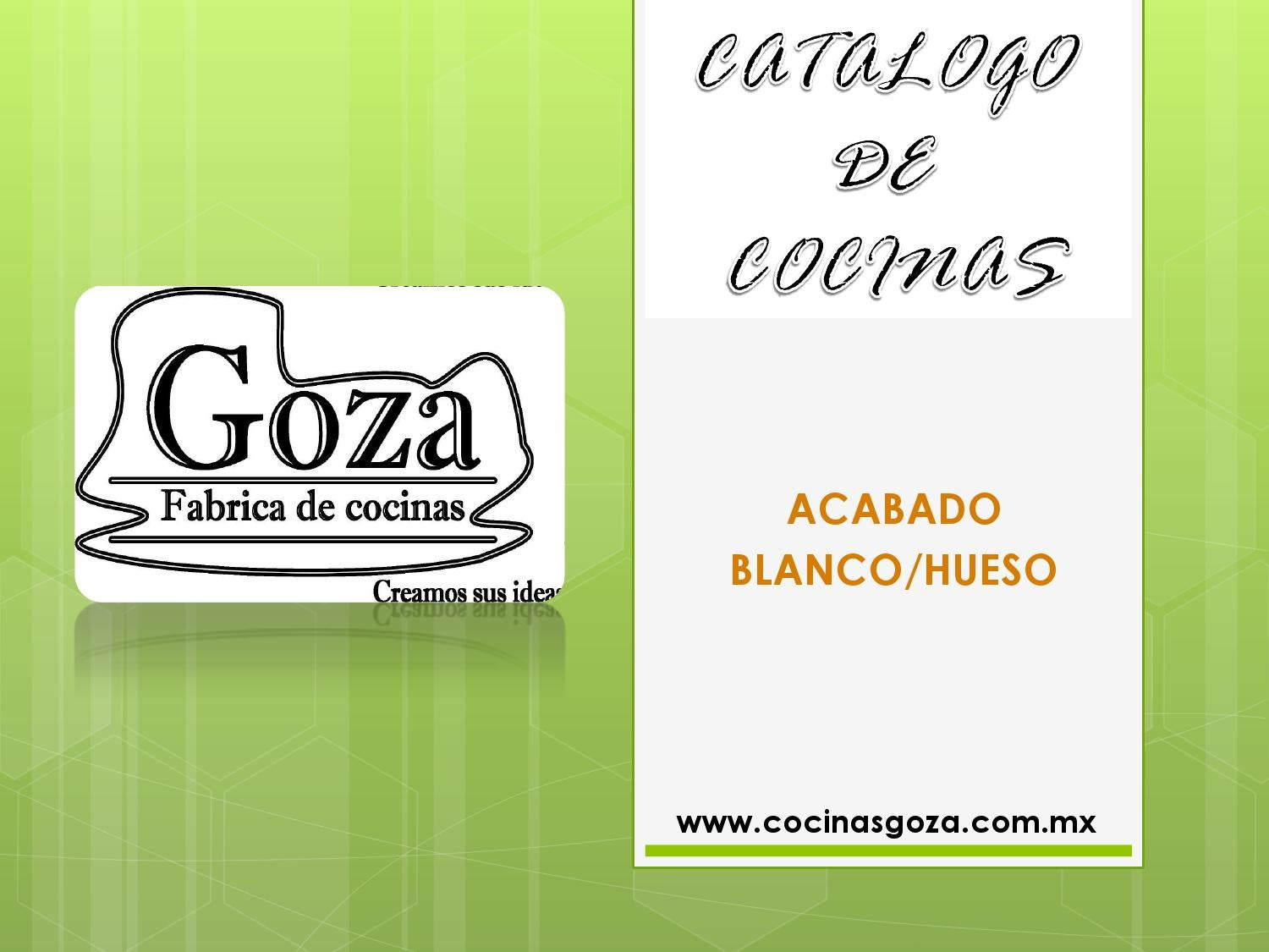 Catalogo de cocinas integrales acabado en color blanco for Catalogo de cocinas integrales pdf